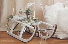 Advent Wreath Sledge Vintage Brocante Shabby Chic Country