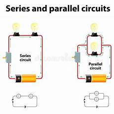 Series And Parallel Circuits Stock Vector Illustration