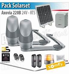 axovia 220 b somfy pack solarset panneau solaire