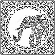 Ausmalbilder Elefant Mandala Mandala Elephant Drawing At Getdrawings Free