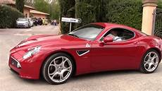 alfa romeo 8c competizione startup full throttle acceleration youtube