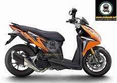 Modif Stiker Vario 125 by Modifikasi Vario 125 Vario 125 Orange Juice