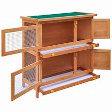 outdoor rabbit hutch small animal house pet cage 4 doors