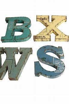 Metall Buchstaben Aus Altmetall Vintage Buchstaben