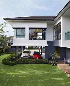 haus in l form the l shape the shape of privacy new single house design