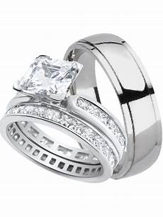 laraso co his and hers wedding ring sets matching