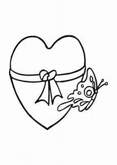 ausmalbild schmetterling herz ausmalbilder valentinsherz mit schmetterling