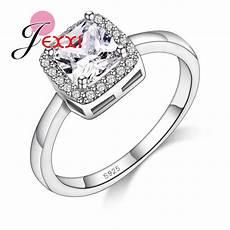 jexxi simple elegant square cubic zirconia rings for