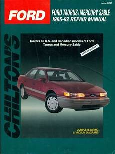 chilton car manuals free download 1991 ford taurus transmission control 1986 1987 1988 1990 1991 1992 ford taurus mercury sable chilton repair manual 801982510 ebay