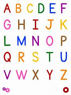 colorful abc alphabet flashcard for kindergarten kids