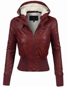 womens faux leather zip up moto jacket with moto jacket hoods and leather