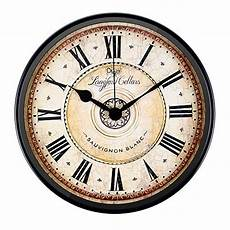 Retro Vintage Classic Disc Wall Clock by Justup Wall Clock 12 Inch Metal Black Wall Clock European
