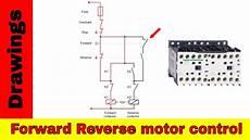 forward motor control diagram reversing contactors youtube