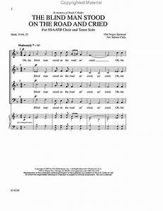 sheet music the blind man stood the road and cried