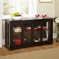 kitchen credenza espresso sideboard buffet dining kitchen cabinet with 2