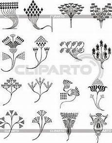 Jugendstil Malvorlagen Blumen Einfache Florale Ornamente Im Jugendstil Stock