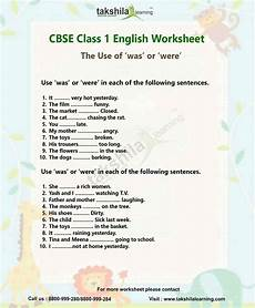 ncert english worksheet for class 1 the use of was or were