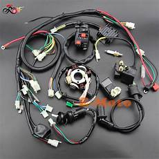 buggy wiring harness loom gy6 engine 125 150cc atv electric start stator 8 coil spark plug