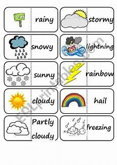 weather domino worksheets 14528 weather domino esl worksheet by ecpa26