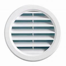 grille de ventilation vmc grille ventilation ronde pvc blanc 224 encastrer