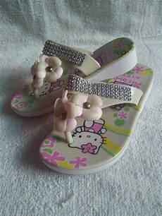 jual sandal anak perempuan jepit karet hello bunga manik di lapak aufadin shop