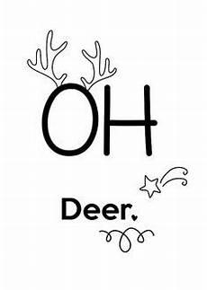 Silvester Malvorlagen Quotes Illustrationen Print Quot Oh Deer Quot Din A 4 Ein