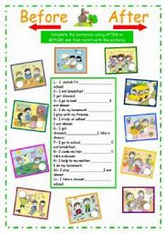 my daily activities after or before esl worksheet by