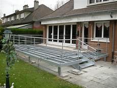 structure terrasse bois terrasse metallique b 194 timent cerh metallerie pour l