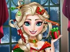 frozen games elsa christmas real haircuts youtube