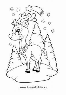 Ausmalbilder Rentiere Weihnachtsmann Ausmalbilder Rentier Im Wald Weihnachtsrentier Malvorlagen