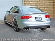 187 awe tuning audi s4 3 0t touring edition exhaust diamond black tips 90mm