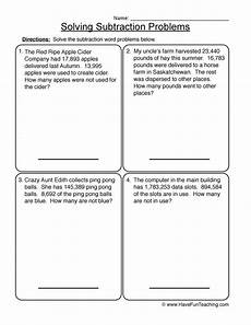 subtraction word problem worksheets for grade 2 11259 math worksheets resources