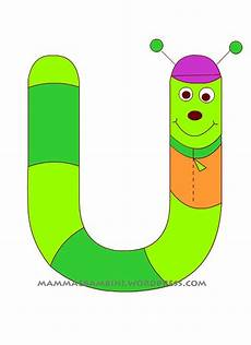 lettere per mamma alfabetiere lettera u mamma e bambini