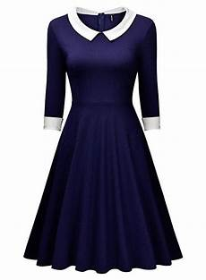 miusol 174 damen knielang 1 2 arm rundhals vintage kleid