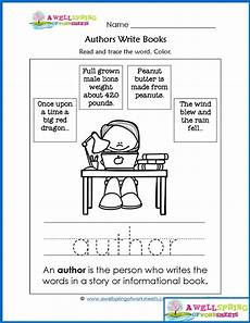 worksheets by subject parts of a book vocabulary cards kindergarten books