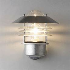 nordlux vejers outdoor wall light galvanised steel at lewis