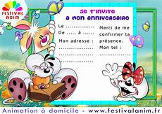 Carte D Invitation Anniversaire Enfant Invitation