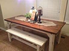 Kitchen Bench Size by Rustic Nail Farm Style Kitchen Table And Benches To Match