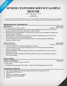 senior customer service resume resumecompanion com resume sles customer service
