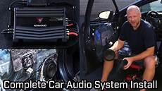 Car Audio System Installation Speakers Subwoofer