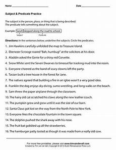subject and predicate worksheets subject predicate subject predicate worksheets complete