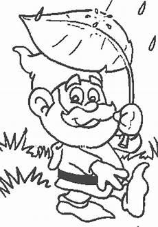 gartenzwerg mit blatt ausmalbild malvorlage gartenzwerge