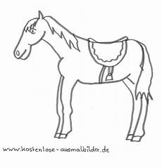 Malvorlage Pferd Mit Sattel Ausmalbilder Pferd Mit Sattel Tiere Zum Ausmalen