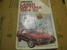 old car manuals online 1984 ford laser navigation system vintage chilton 1984 85 plymouth laser dodge daytona repair guide chilton repairguide dodge