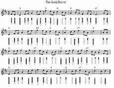 the irish rover tin whistle sheet music irish folk songs