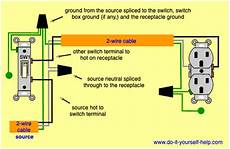 how to wire switch and outlet wiring diagrams for switched wall outlets do it yourself help com