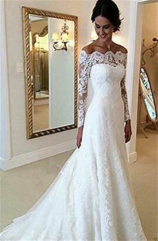 new elegant lace wedding dresses white ivory off the shoulder garden bride gown ebay