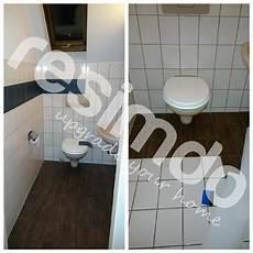 Fliesen Toilette Folieren Renovieren Holz Bekleben