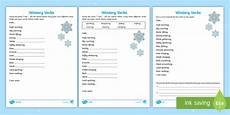 Ks1 Wintery Verbs Based On I Am Poem Differentiated