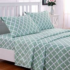 buy luxury 1800 thread count quatrefoil pattern 4 piece bed sheets by decor